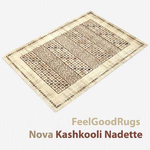 3D wool modern carpet rug