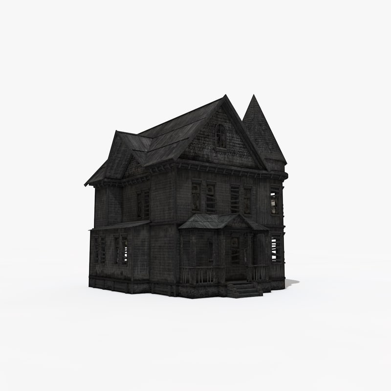 old house interior 3D