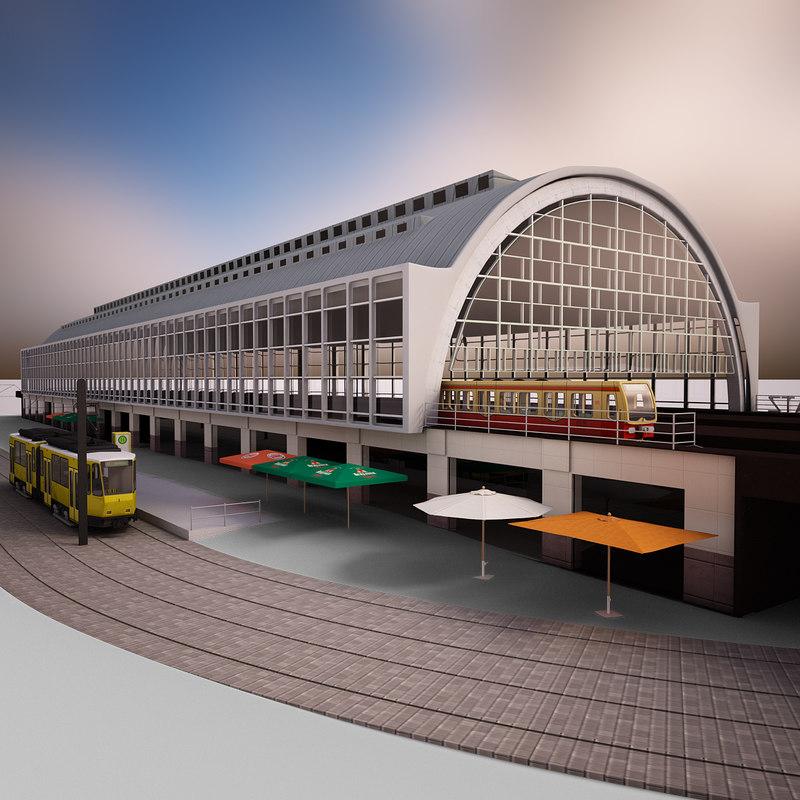 3D railway station alexanderplatz s-bahnhof