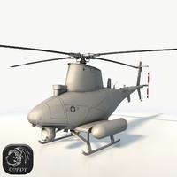 3D uav mq-8 scout drone model