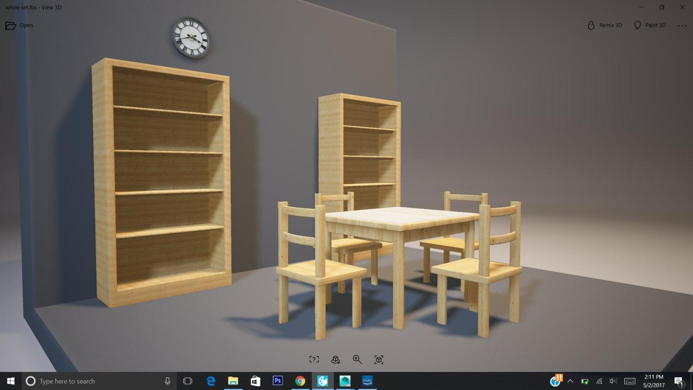 3D model table living room