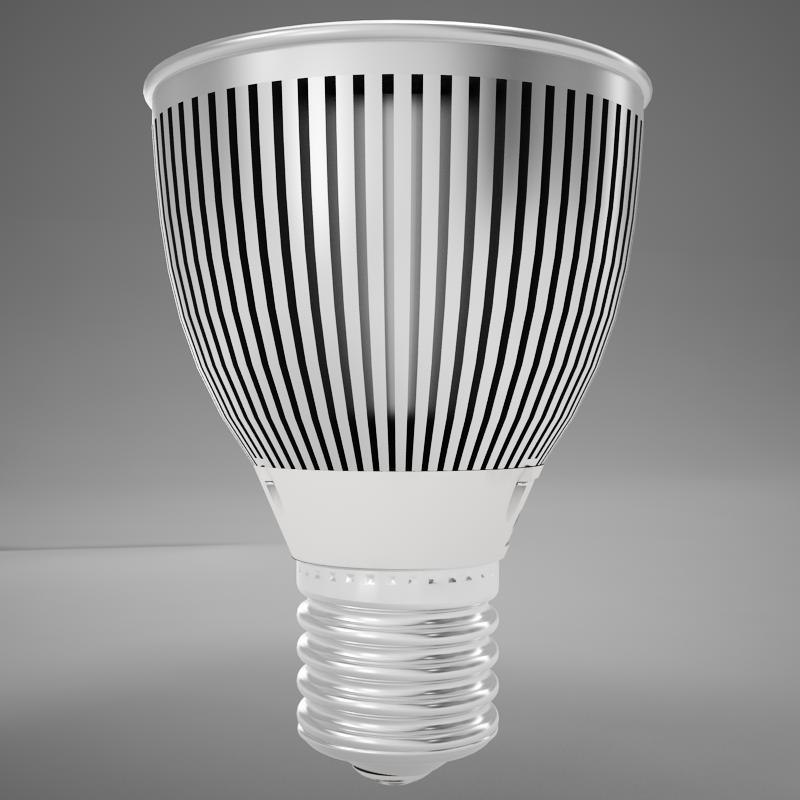 led light bulb 3D