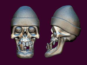 3D funny skull