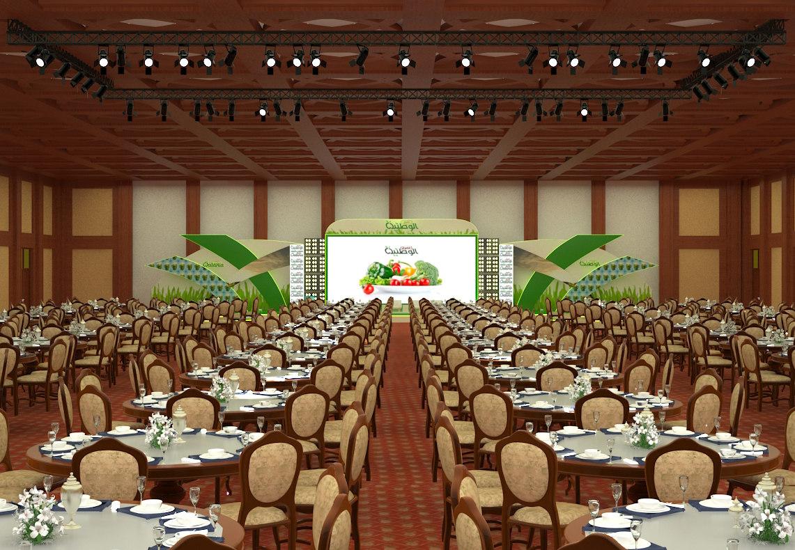 event hall 3D model