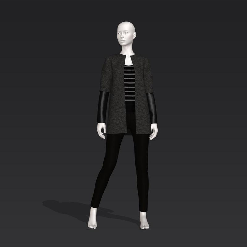 woman pants 3D model