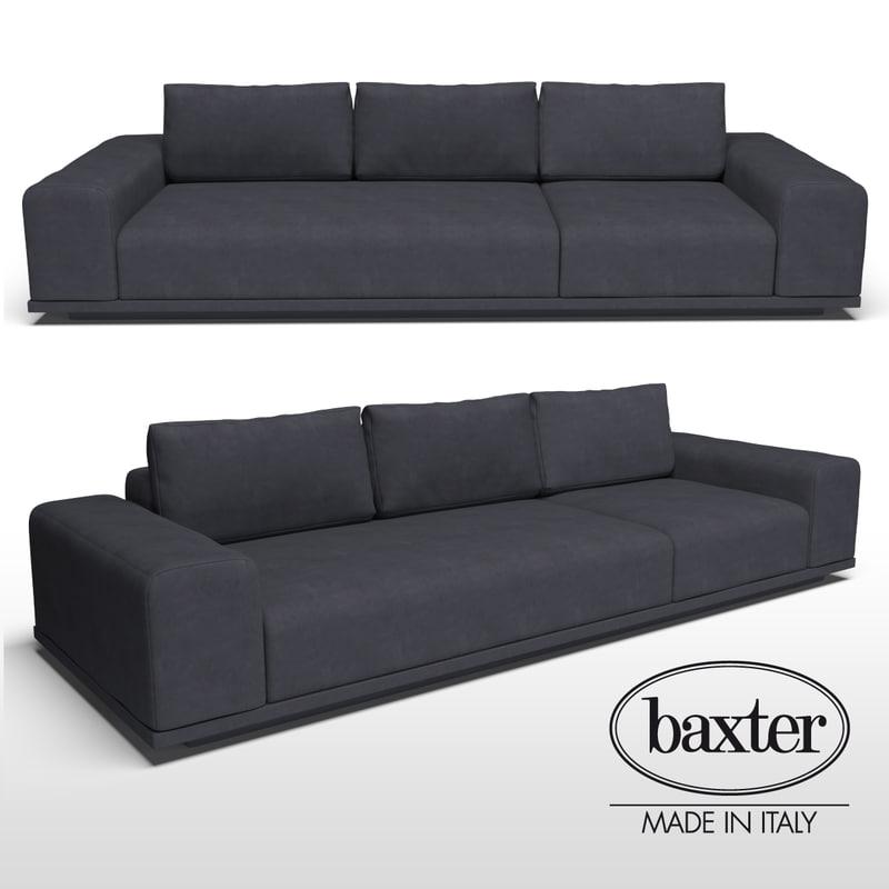 3d baxter monsieur sofa model turbosquid 1153234 for Baxter monsieur