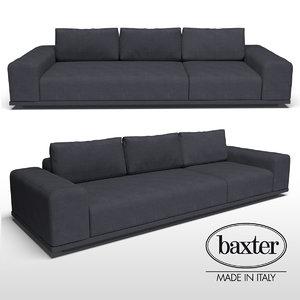 3D baxter monsieur sofa model
