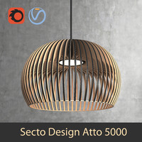 Scandinavian (finnish) Atto 5000 pendant light by Secto Design interior lamp (Vray and Corona render)