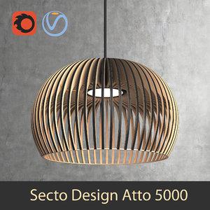 secto design interior lamp 3D model