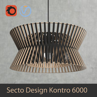 Scandinavian (finnish) Kontro 6000 pendant light by Secto Design interior lamp (Vray and Corona render)
