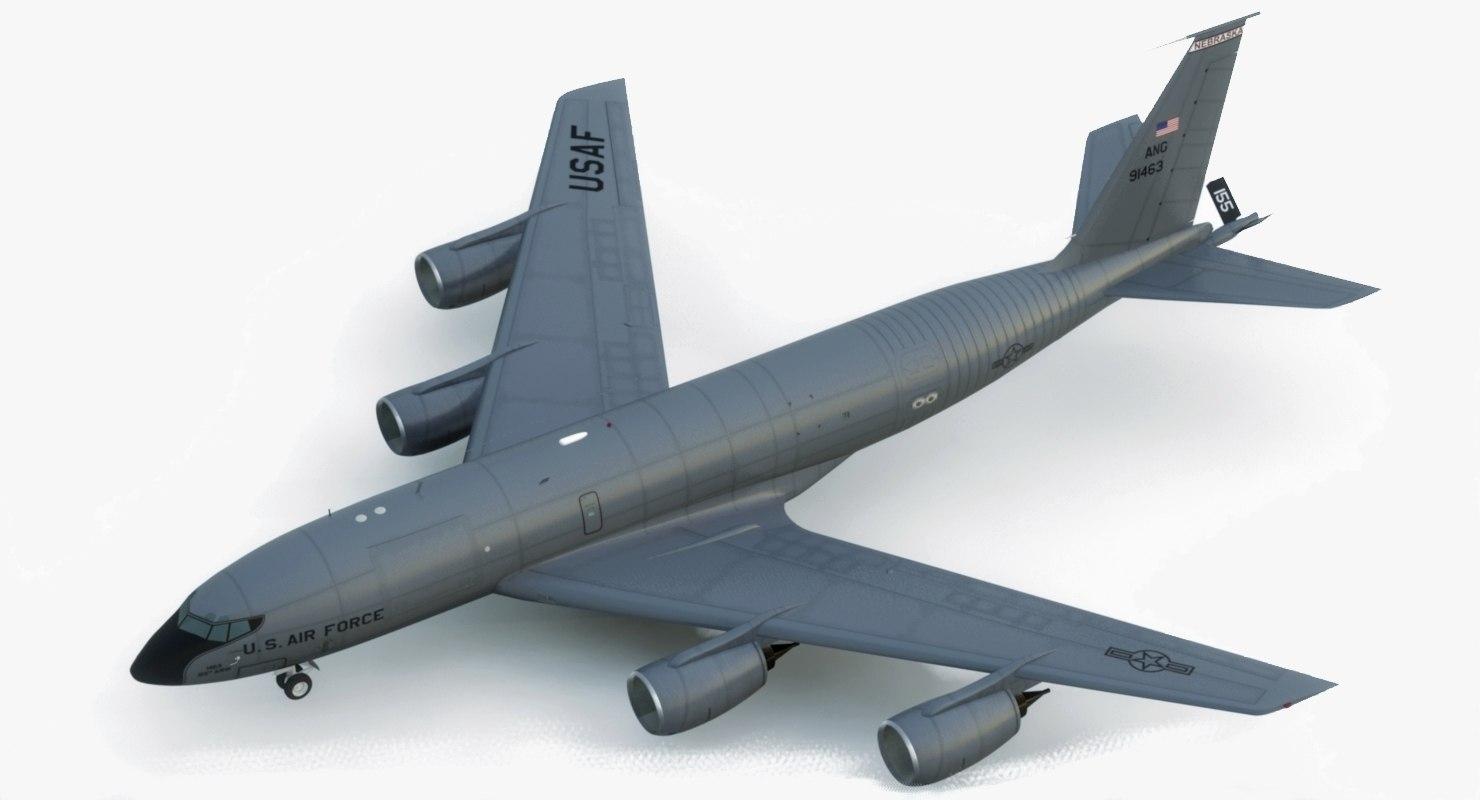 3D kc-135 stratotanker usaf model