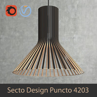 Scandinavian (finnish) Puncto 4203 pendant light by Secto Design interior lamp (Vray and Corona render)