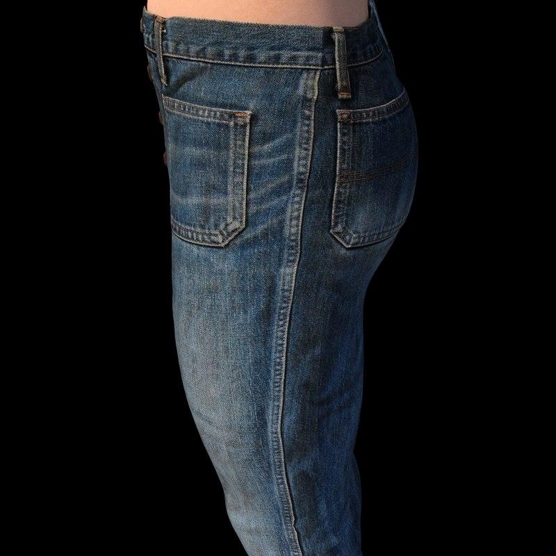 jeans genesis 3 male 3D model