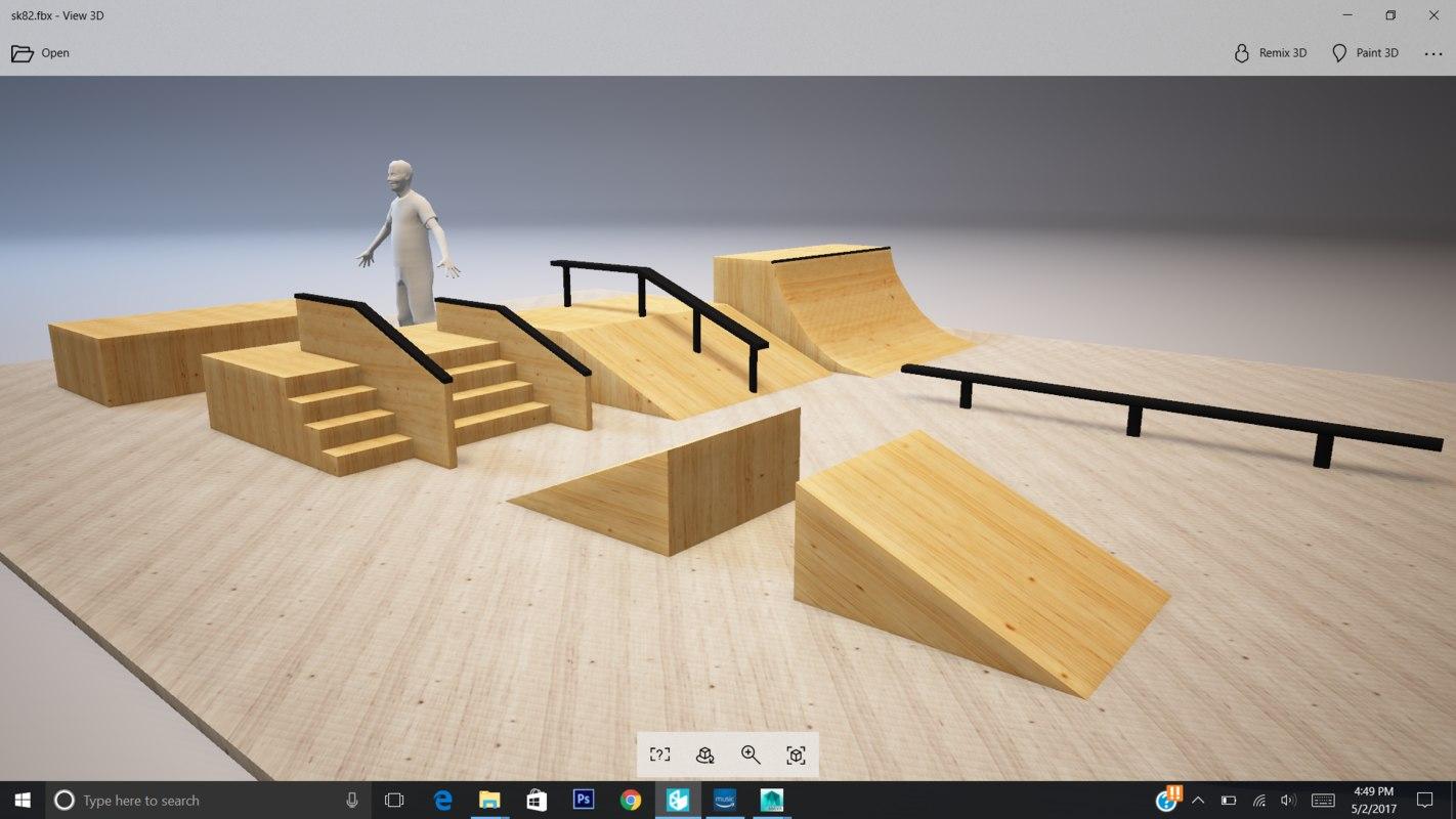 3D model skate park
