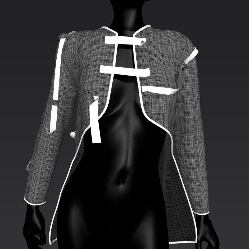 3D trendy jacket