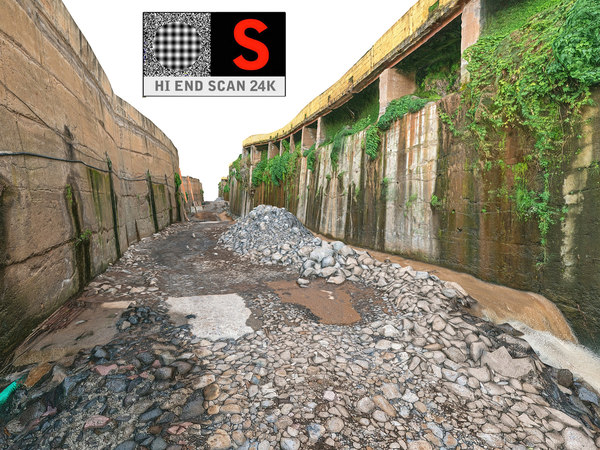 3D model urban water canal