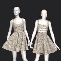 3D cute cut dress