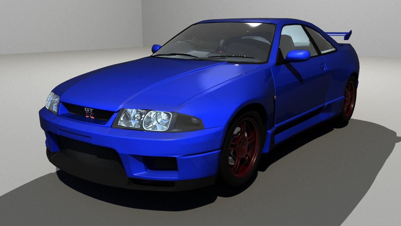 3D nissan skyline model