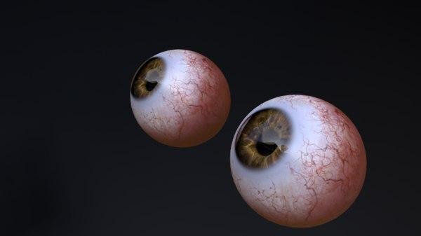 3D model iris eye