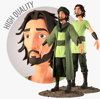 cartoonish muslim character animation 3D
