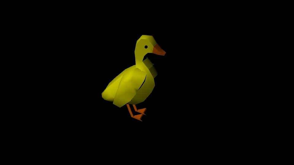 3D animations duck model
