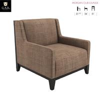 3D morgan club lounge chair model