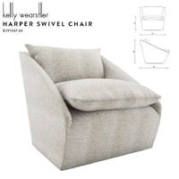 kelly harper swivel chair 3D