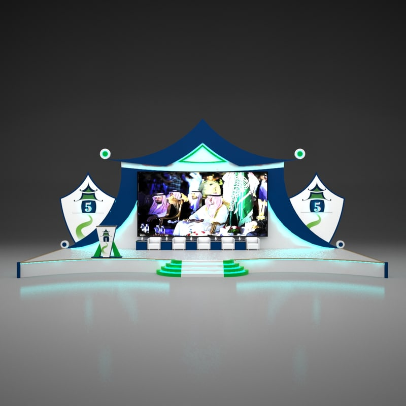 stage chinese event design 3D