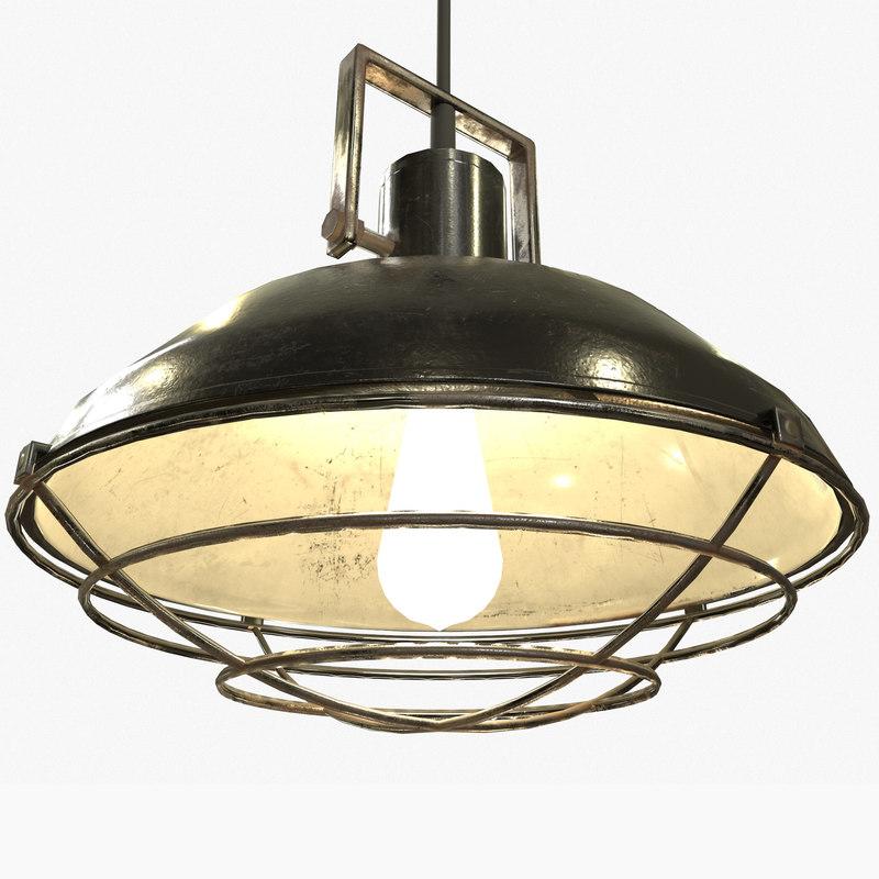 ready industrial overhead light 3D model
