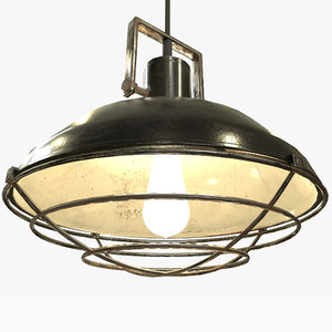 ready industrial overhead light 3D model