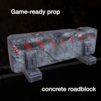 concrete roadblock