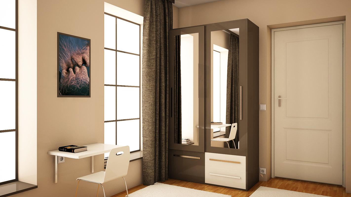 single room 3D model