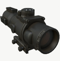 3D tactical scope model
