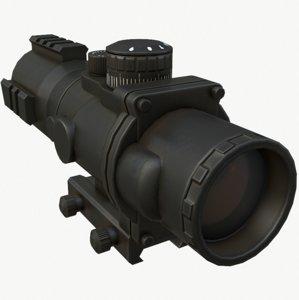3D tactical scope model