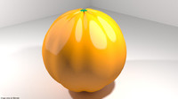 3D model fruit orange