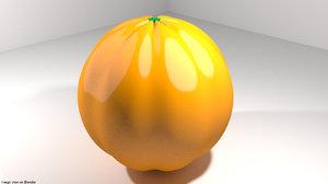 3D model fruit orange