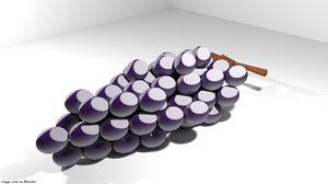 fruit grape 3D model