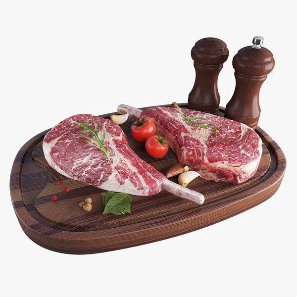 3D model beef steaks