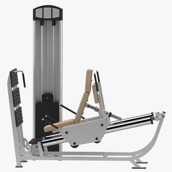 gym leg press 3D