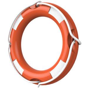 3D life lifebuoy model