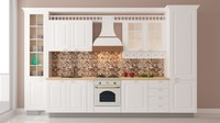 3D classical vintage kitchen