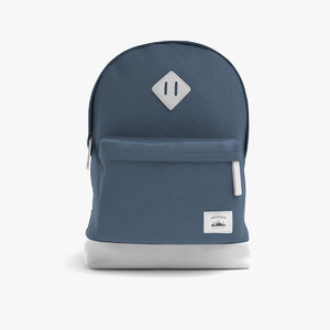 casual cotton backpack 3D model