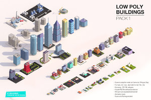 3D buildings city asset