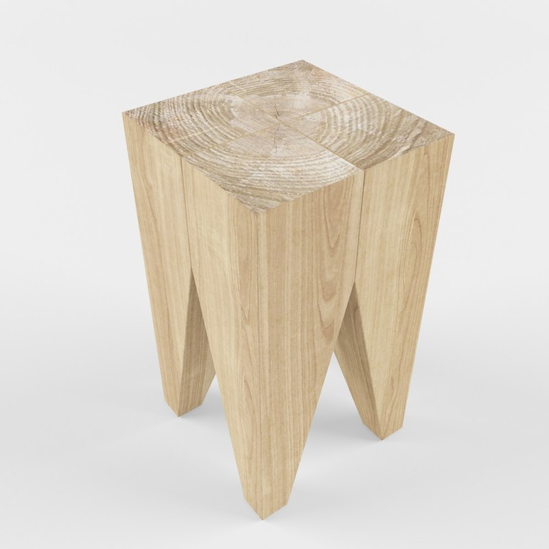 table log 3D model