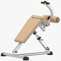 gym sit bench 3D