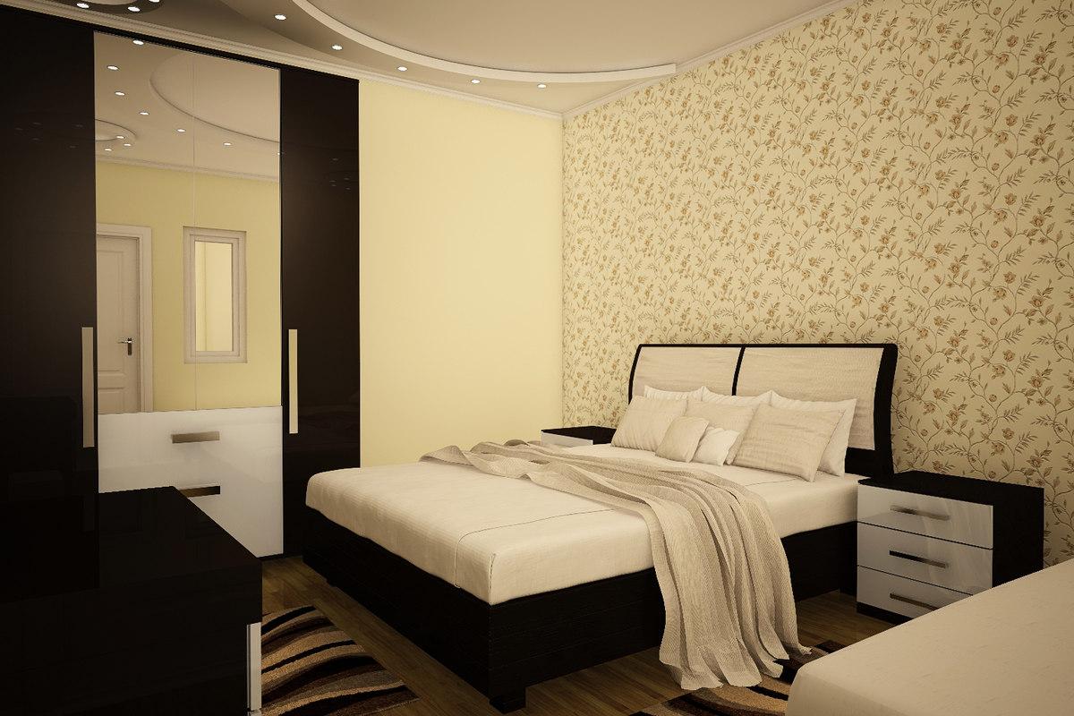 bedroom living room 3D model
