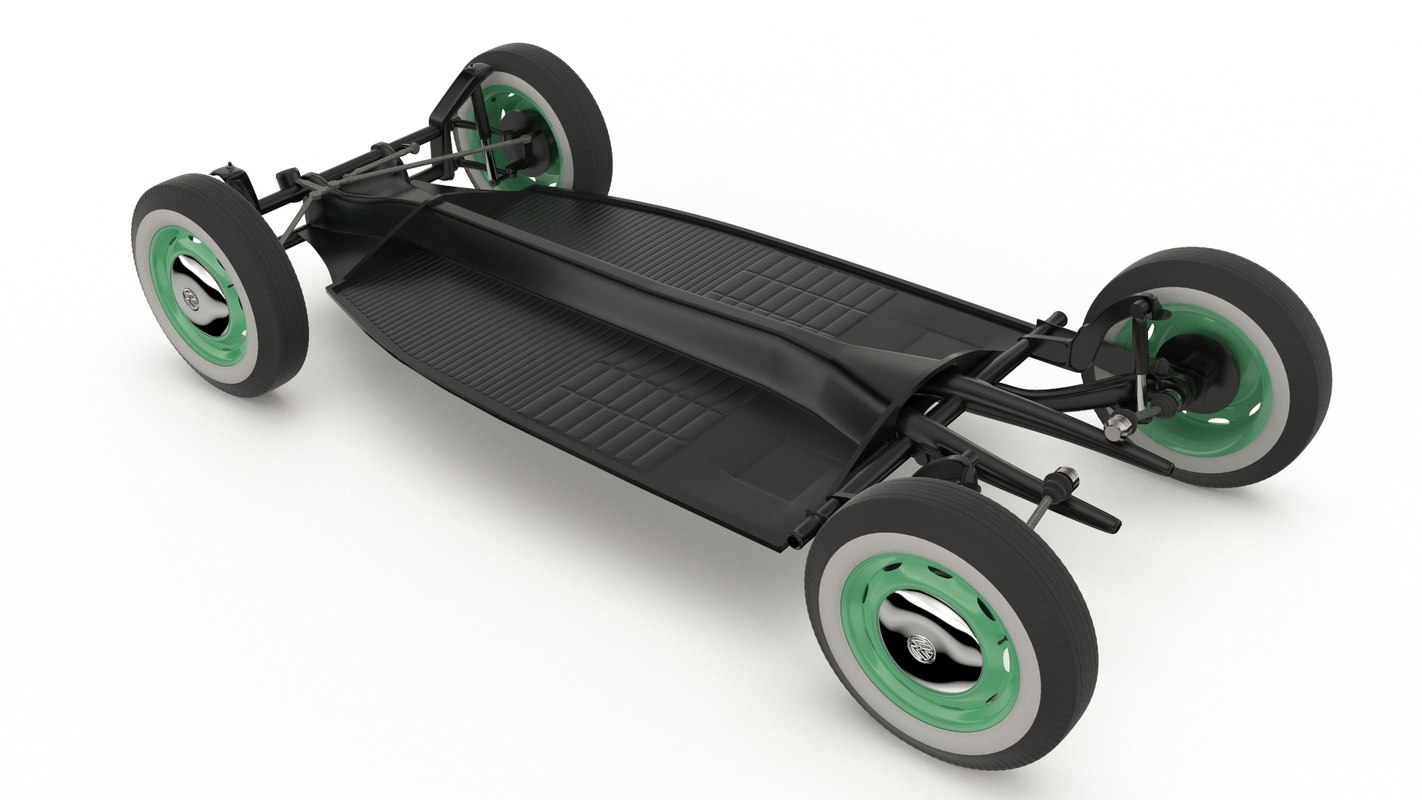 volkswagen beetle chassis 3D model