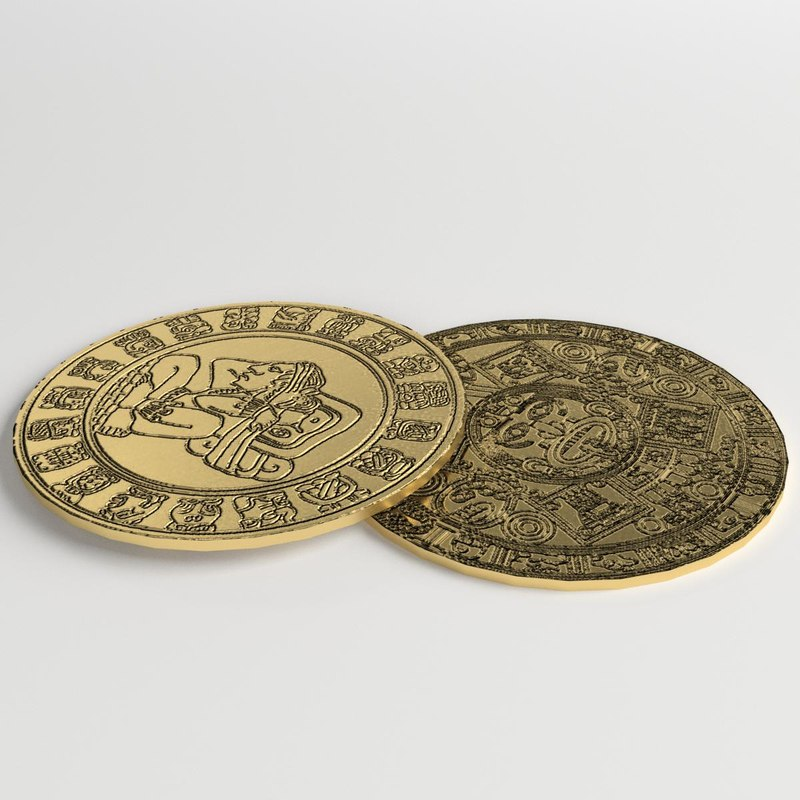 pre columbian gold coins 3D model