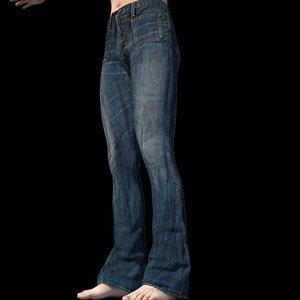 jeans genesis 2 male 3D model