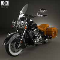 3D indian chief vintage model